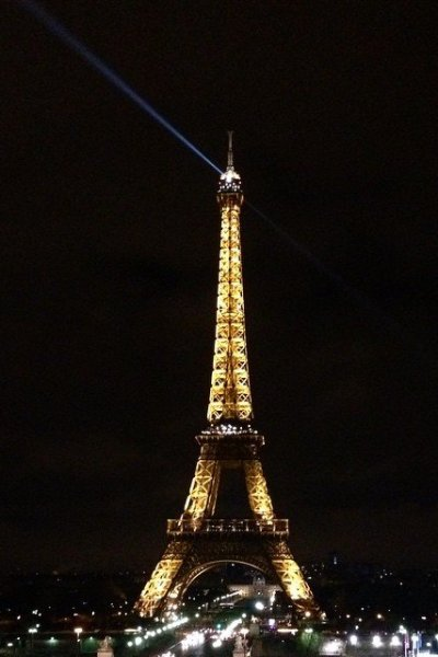 paris france eiffel tower view from trocadero
