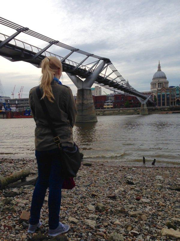 thames riverside london millennium bridge st pauls