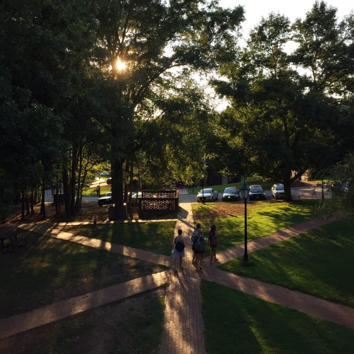 davidson college view from senior apartments