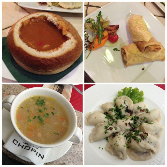 Local food in Krakow Poland