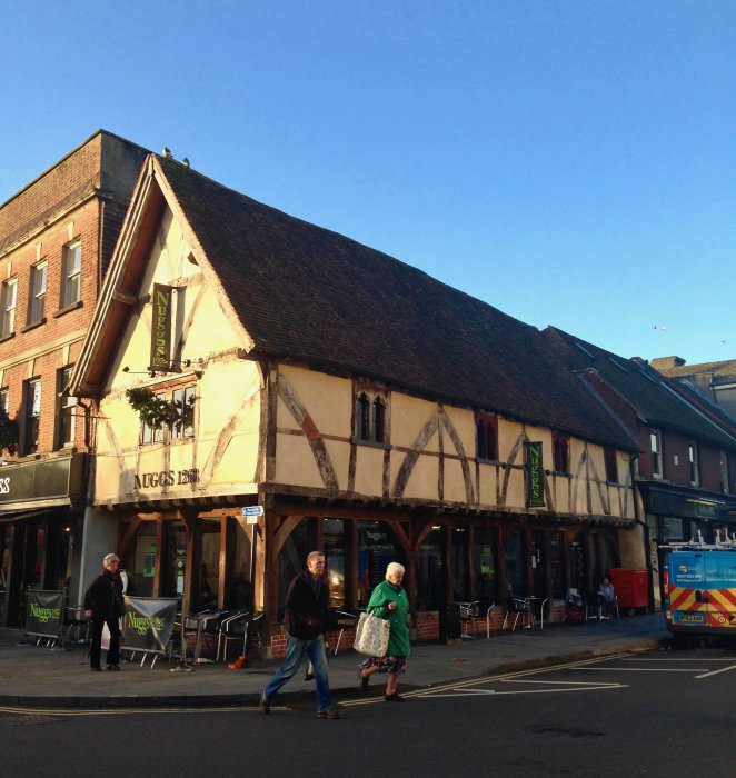 nuggs salisbury half timbered building