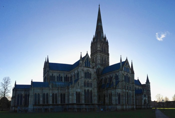 panoramic image of salisbury cathedral