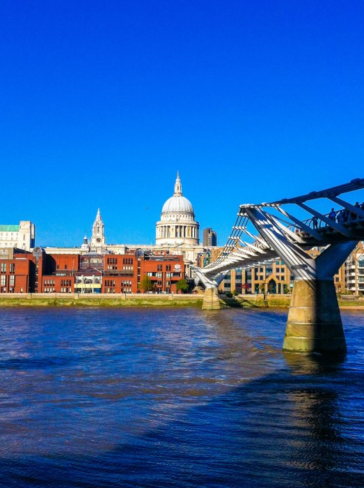 london millennium bridge st pauls south bank