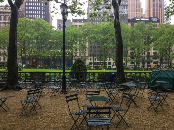 bryant park tables nyc