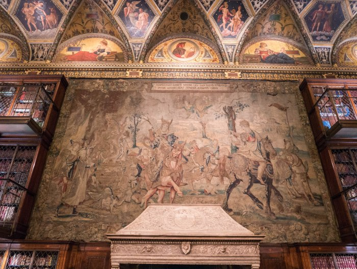 the morgan library interior tapestry