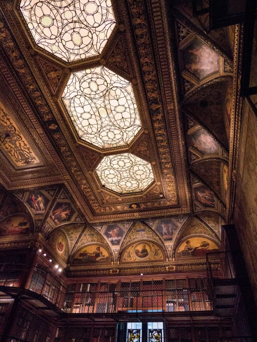 the morgan library interior is one of the prettiest, most hidden spots in new york city and a must-visit if you love books.
