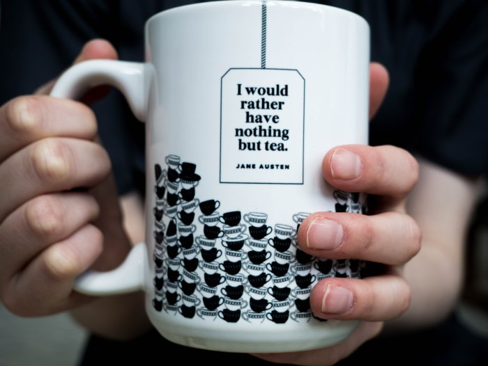 i would rather have nothing but tea jane austen mug