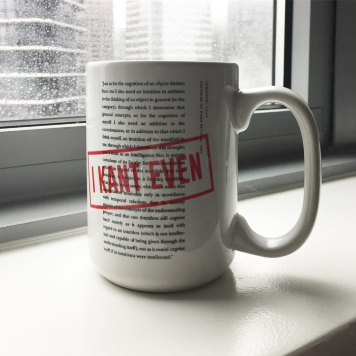 I Kant Even political philosophy mug
