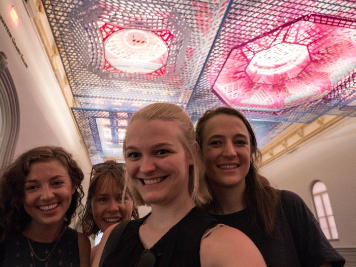 A selfie at the Renwick Gallery during our girls weekend in dc