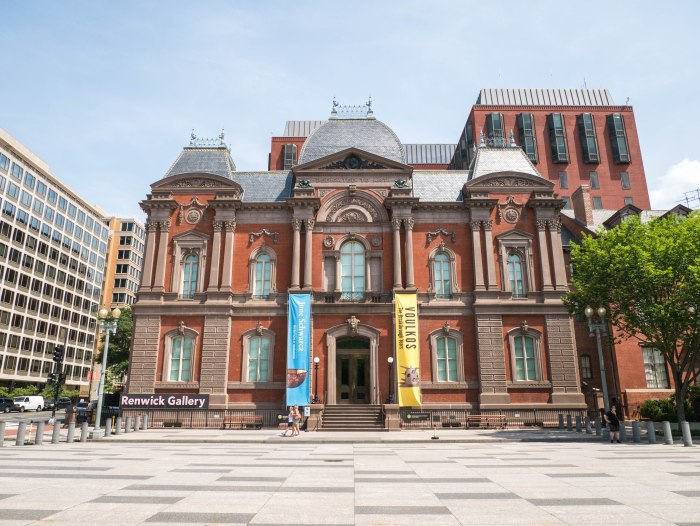 exterior shot of renwick gallery in washington dc