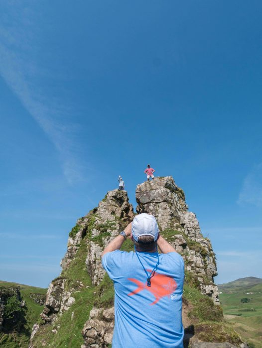 Climbing Castle Ewan in Fairy Glen on the Isle of Skye - It's not for those afraid of heights! #Scotland #Skye