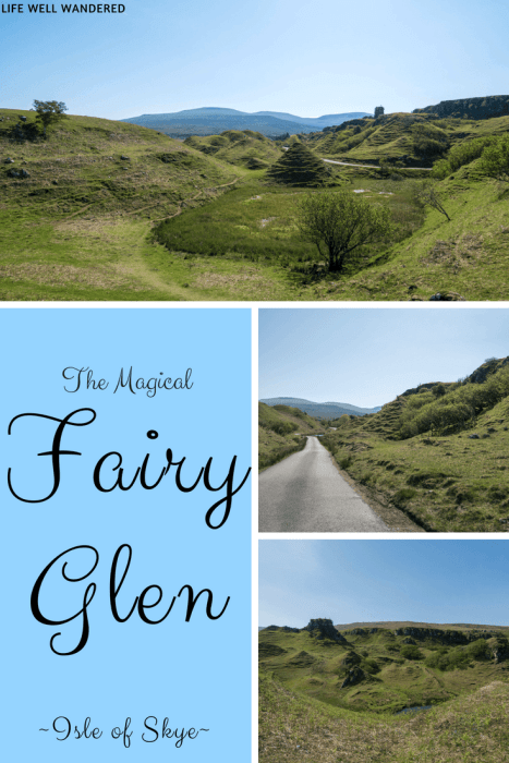 Fairy Glen on the Isle of Skye is a must-see hidden gem while in Scotland. One of the best things to do on the Isle of Skye, Fairy Glen will surprise you with its unique landscape and mysterious vibe. #Scotland #ScotlandisNow #FairyGlen #Skye #IsleofSkye
