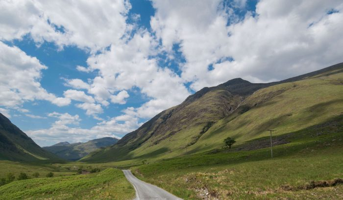 driving glen etive scotland on a family road trip