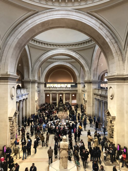 the interior of the met museum nyc, one of the busiest museums in the world