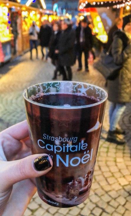 Vin chaud, or mulled wine, in Strasbourg