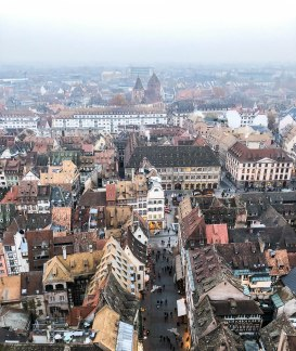 strasbourg cathedral from above 9