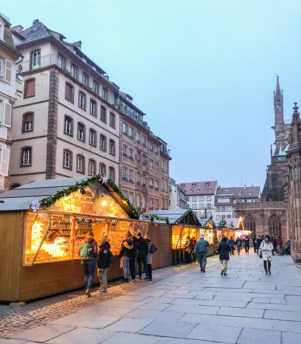 strasbourg christmas market place de la cathedrale