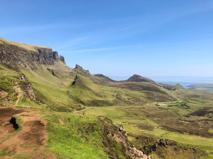 quiraing isle of skye on a sunny day