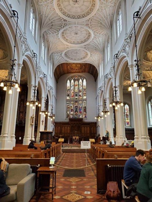 host coffee london secret spot in st. mary aldermary church
