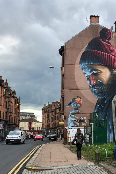 Modern-day Saint Mungo Street Art mural by Smug Glasgow