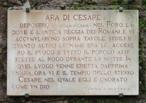 ara di cesare italian description of Caesar's cremation
