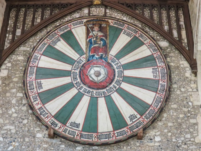 image of the round table of king arthur in winchester great hall england