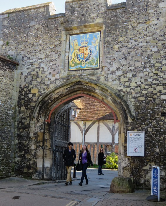 priory gate winchester cathedral close england