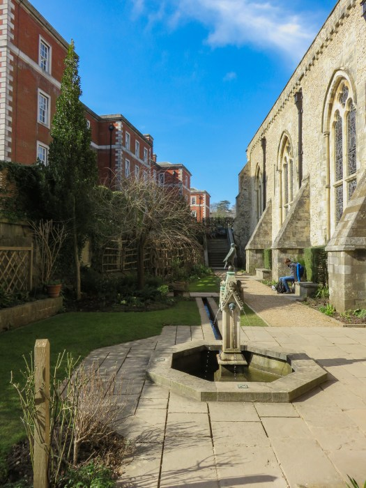 queen eleanors garden next to winchester great hall england