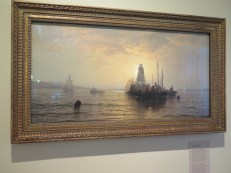 """Sunset, New York Bay,"" 1872, oil on canvas by Edward Moran. Photo by Andrew Mozenberg for Life-Wire News Service."