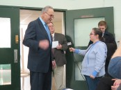 Charles Schumer interviewed by Dolores Palermo.