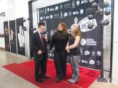 Life-Wire's Eric Schwacke with Ilaria Niccolini of Ilaria Niccolini Productions and Madline Stuart.