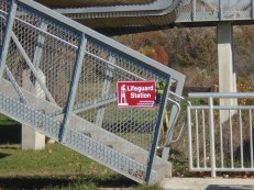 """The lifeguard station is located over the fence where the park beach is."" Photo: Anthony DiCostanzo for Life-Wire News Service."