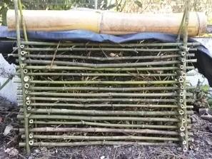 bamboo compost bin, bamboo