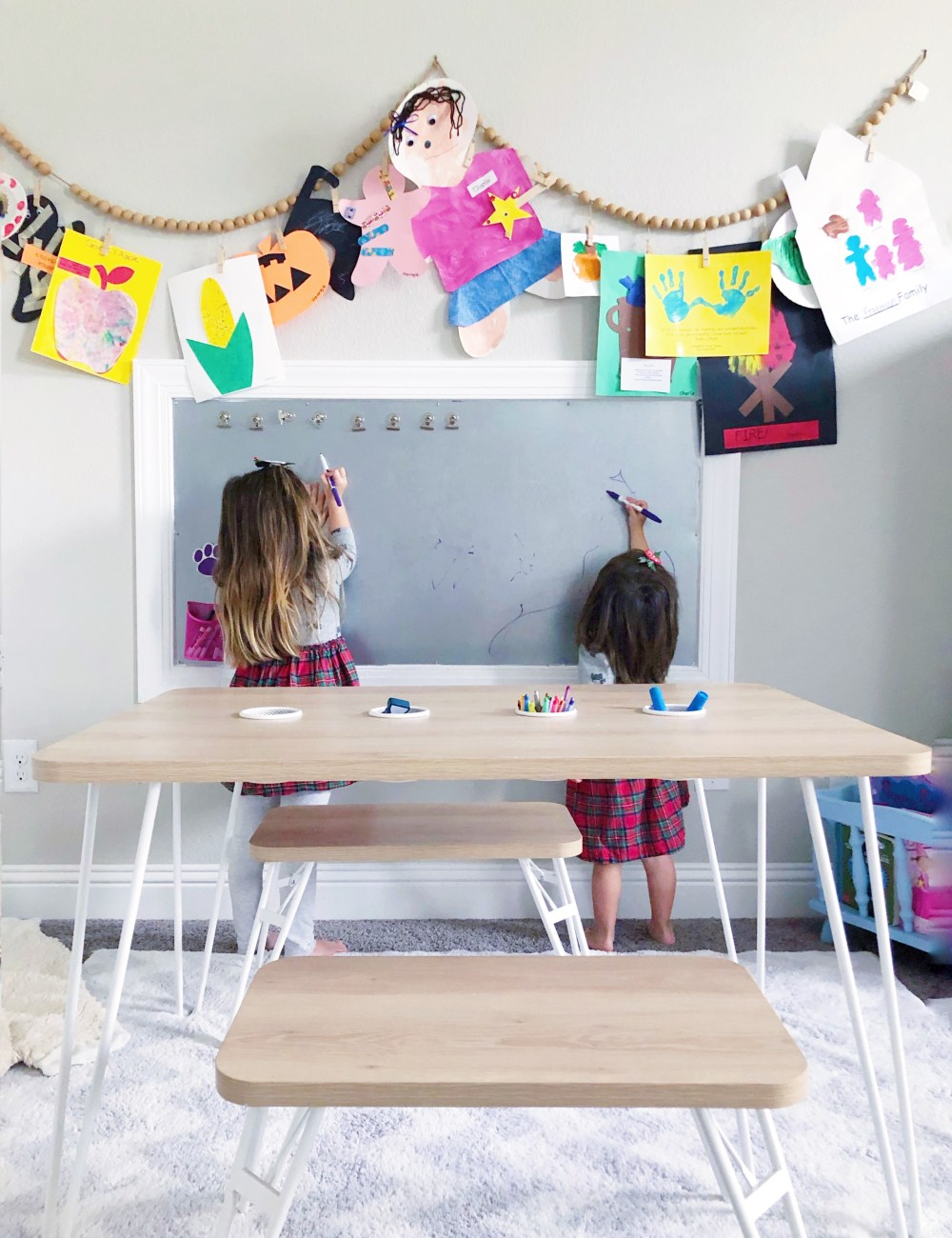 DIY Galvanized Sheet Dry Erase Board