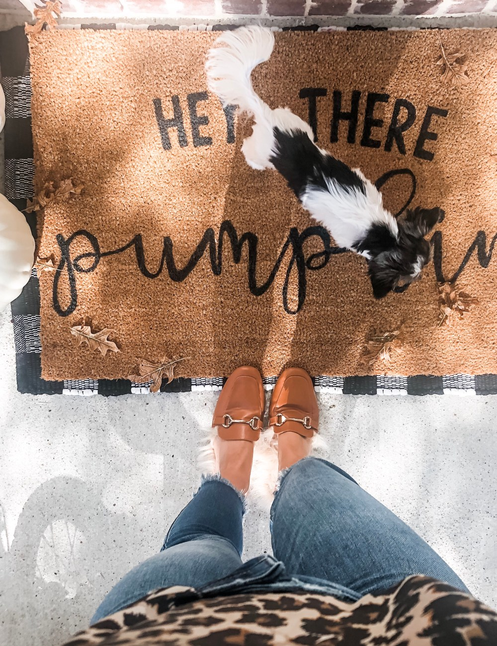 DIY Fall Door Mat
