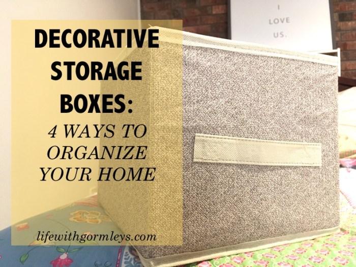 decorative storage boxes