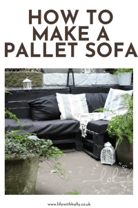 How to Make a Pallet Sofa - Tutorial - Small Garden/Yarden Ideas - Life with Holly