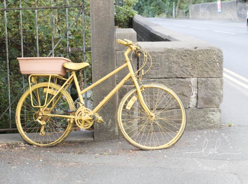 Tour de Yorkshire Yellow Bike Honley - Summer Walks - Life with Holly