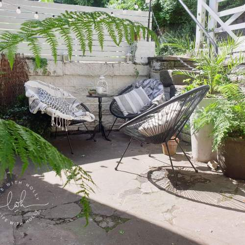 Small Courtyard Garden Revamp by Life with Holly