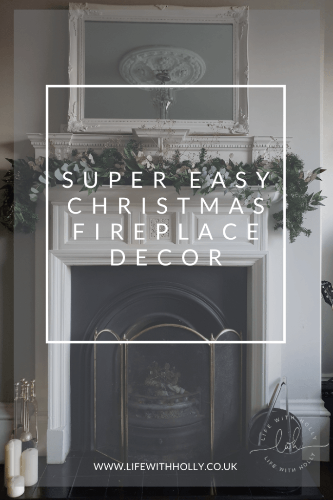 Christmas Mantelpiece Garland with Faux Foliage Tutorial by Life with Holly