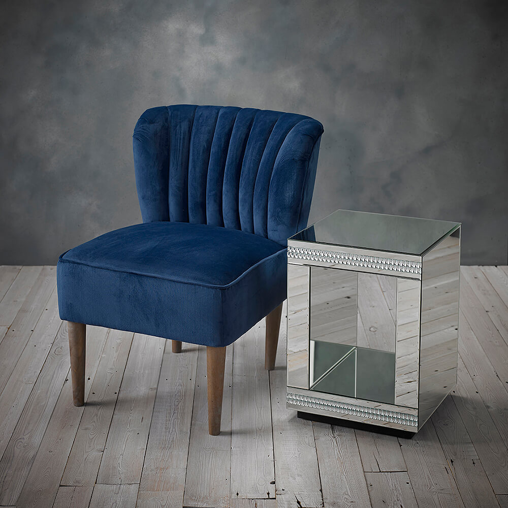 Hemming Wills Orla Velvet Chair in Midnight Blue
