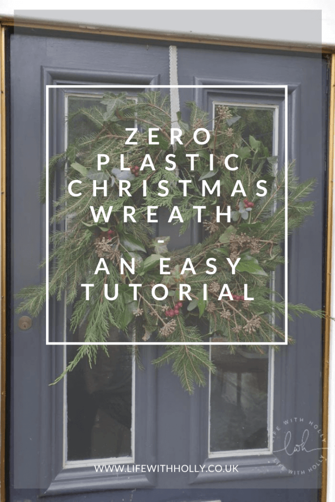 Zero Plastic Christmas Wreath Tutorial by Life with Holly