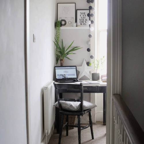 Monochrome Home Office by Life with Holly