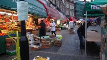 Setting up at Brixton Markets