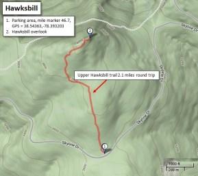 Hawksbill trail map