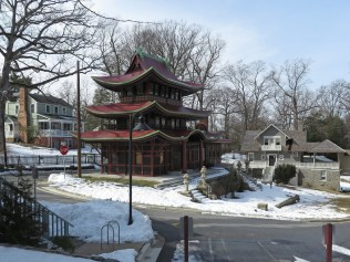Japanese pagoda and Swiss chalet