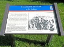 Piedmont Station historical marker