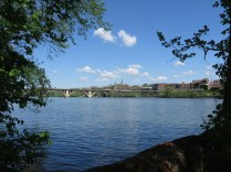 Georgetown and Key Bridge, from Roosevelt Island