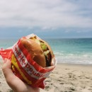 It really doesn't get any better than eating In N Out on Laguna Beach