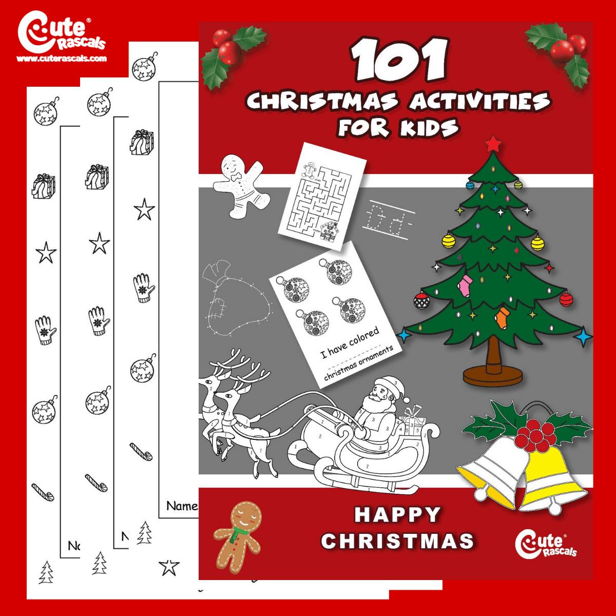 Christmas Activity Worksheets For Preschoolers